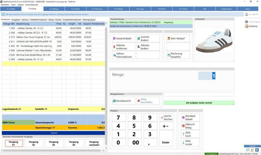 TopM-elius6-Screen-Modul-Kasse-Artikelerfassung