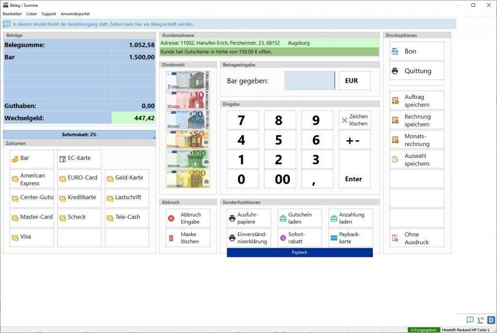 TopM-elius6-Screen-Modul-Kasse-Kassiervorgang